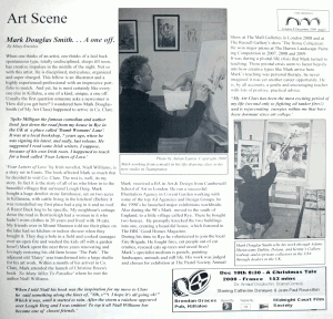 Art Scene article on My Art Class and Mark Douglas-Smith