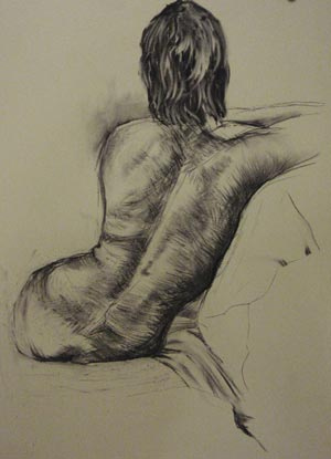 life drawing, sample drawing